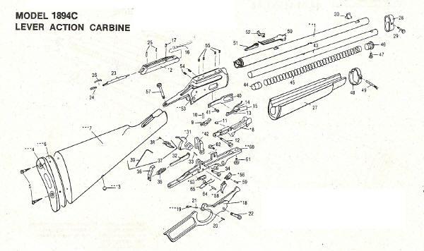 Marlin Model 1889 Parts Diagram