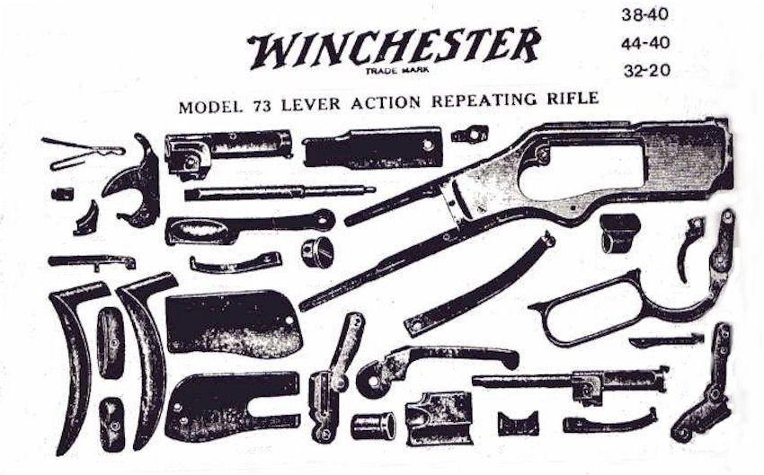 winchester 1873, parts diagramparts of a rifle 1873 winchester