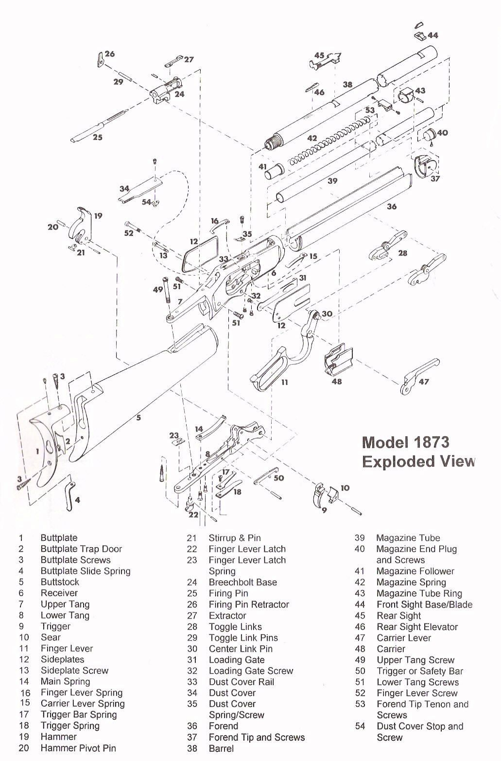 Winchester 1873 Parts Diagram Engine Names